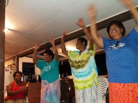 Bua women doing their happy dance....