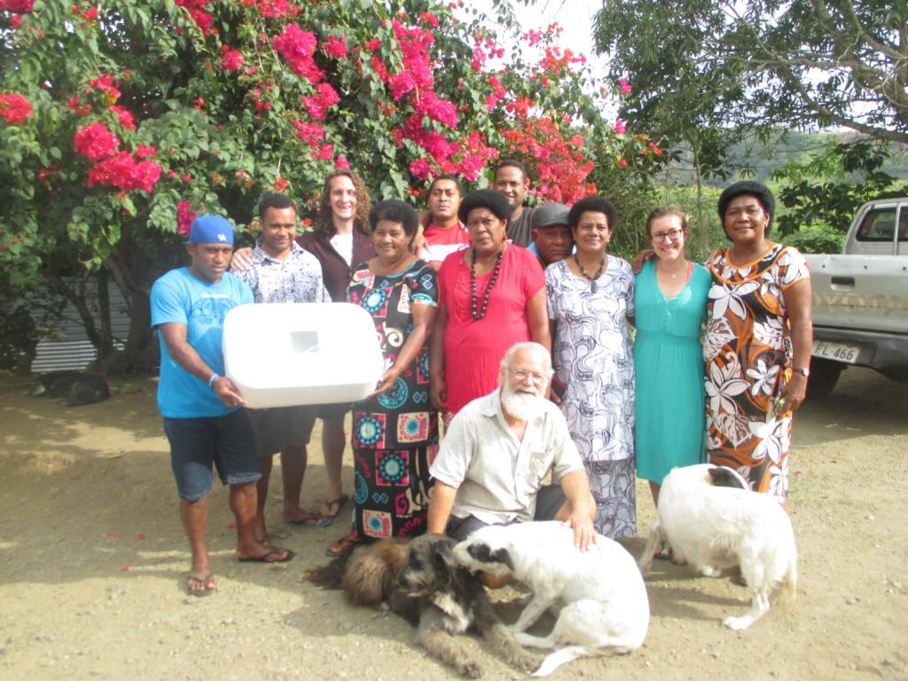 Moala Workshop Participants with Incubator