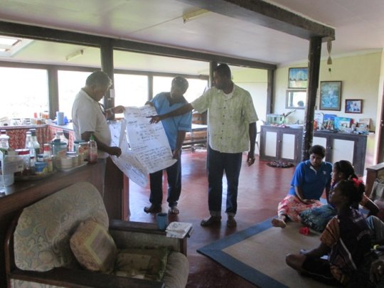 Moturiki participants presenting to the group