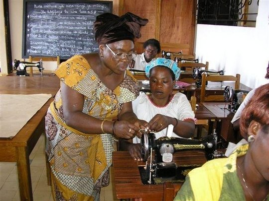 Training women to sew
