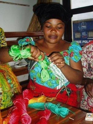 Congolese woman participating in jobs skill traini