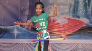 Displaying dancing skills