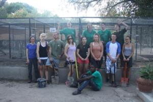 Our wonderful volunteer team with GVI!