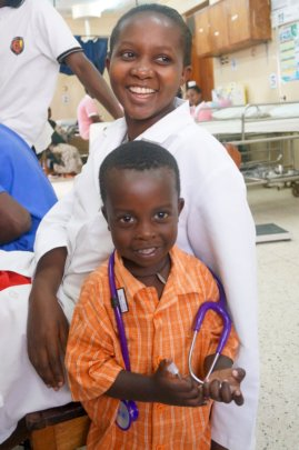 ECP, Jovita, and her son in the ED