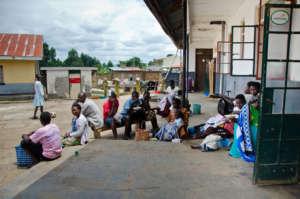 Outside the ED at Nyakibale Hospital
