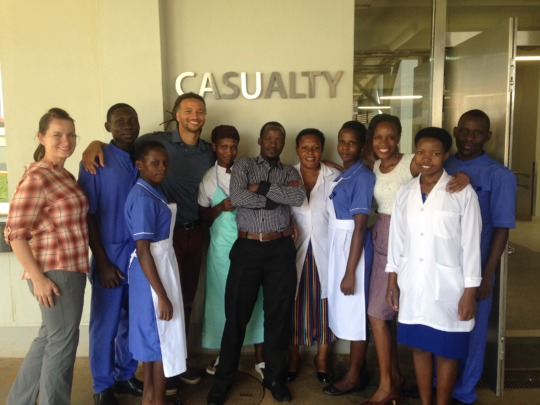 Masaka team at the hospital