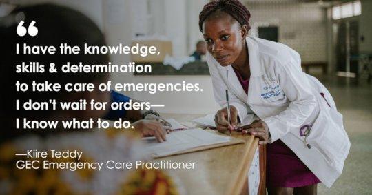 Kiire Teddy, Emergency Care Practitioner
