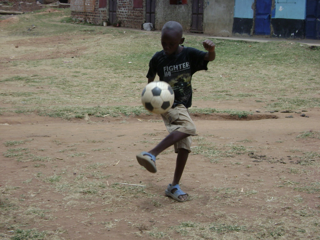 Master Wafula Eric shows his prowess in soccer