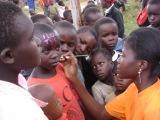 Children enjoying face painting