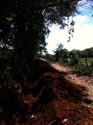 trench along main road