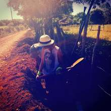 Trenching in the sun
