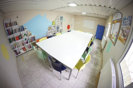 some of the books and learning space