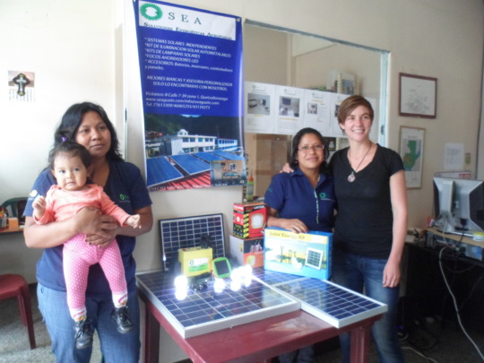 The Solar Team in the shop in Xela