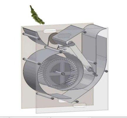 Amaranth Winnower design by Calvin College