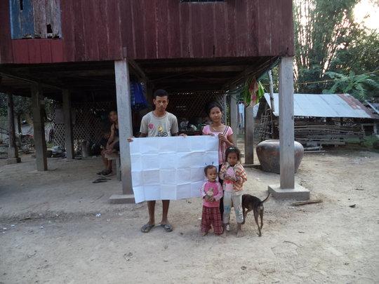 Planting map for farmer Khin Ninith & family