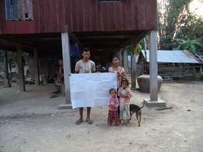 Planting map for farmer Khin Ninith & family