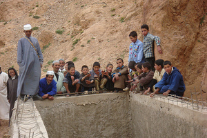 Water basin with kids