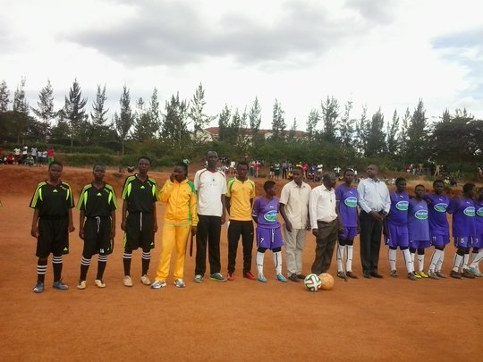 Girls teams before the match