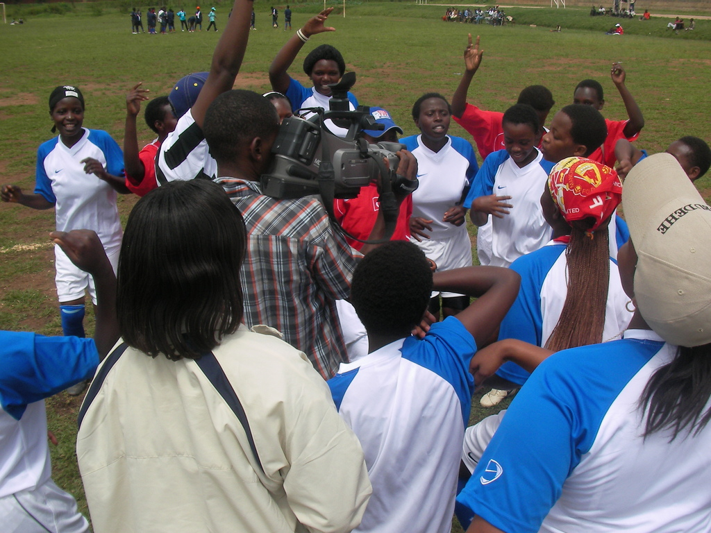 Women and Girls celebrating victory