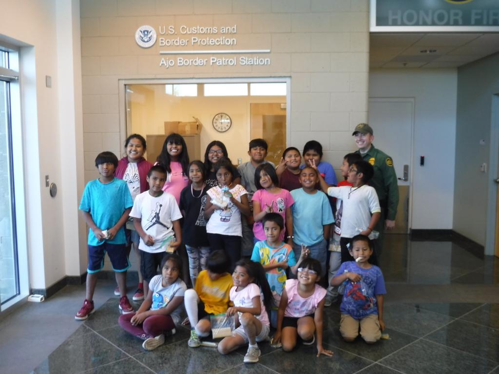 Summer Adventure Kids visiting Border Patrol!