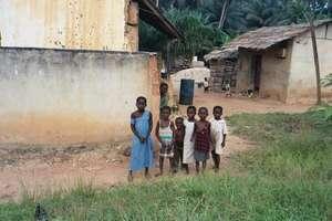 Children in Rural Ghanaian Village
