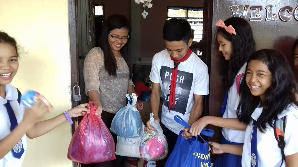 Cuartero NHS Students Create Clothing Drive
