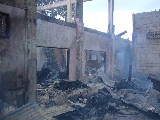 Ruins of Haji Hassiman Elementary after the fire