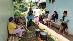 Mom's cooking lunch at Poblacion ES, Mindanao
