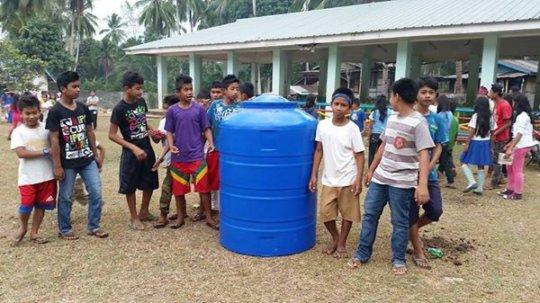 Water tank bought by AAI at Poblacion ES, Mindanao