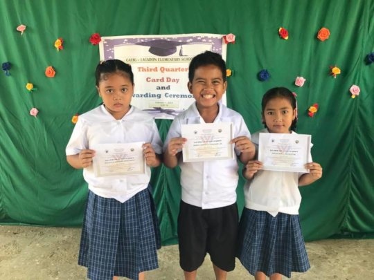 award winning students of catig lacadon