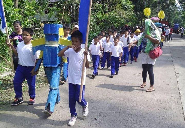 walking the robot  in culture and sports parade