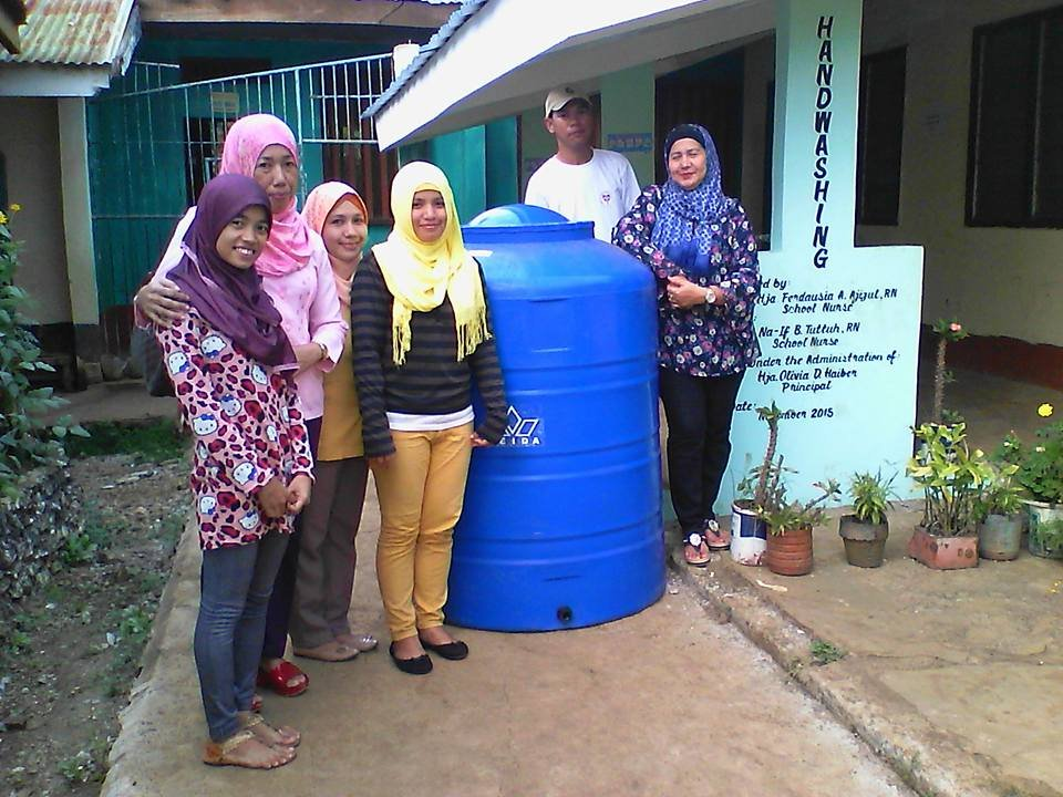 Water tank from AAI at Sheikh Mustafa ES, Sulu