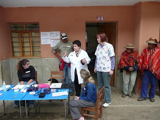Triage at our Peru Camp