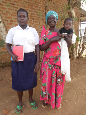 ORPHAN  WITH MOTHER RESUMED SCHOOL AFTER BIRTH