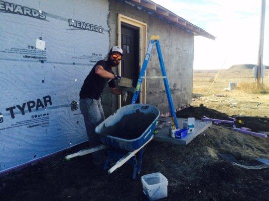 John Motley hard at work