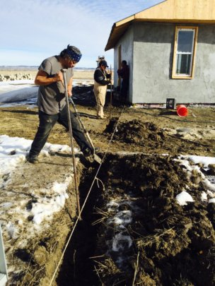 Digging electrical lines