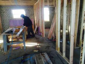 Paul framing the interior