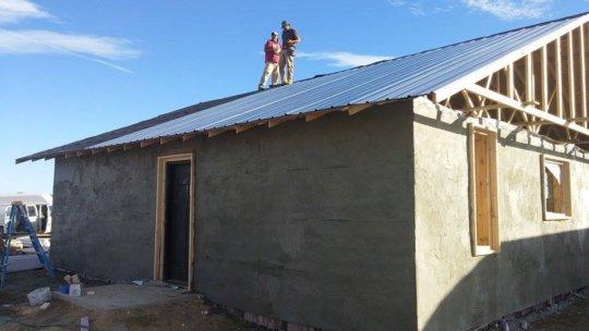Stucco + roof