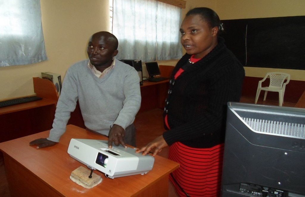 Lewis, our IT Director, trains ICT teachers.