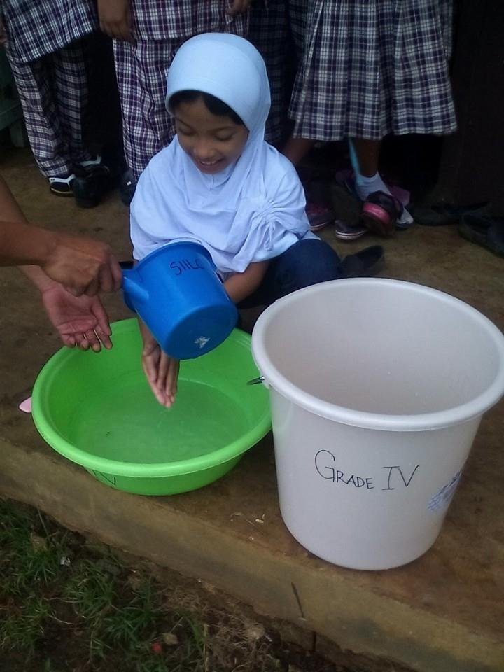 conserving water with plastic bowls from AAI