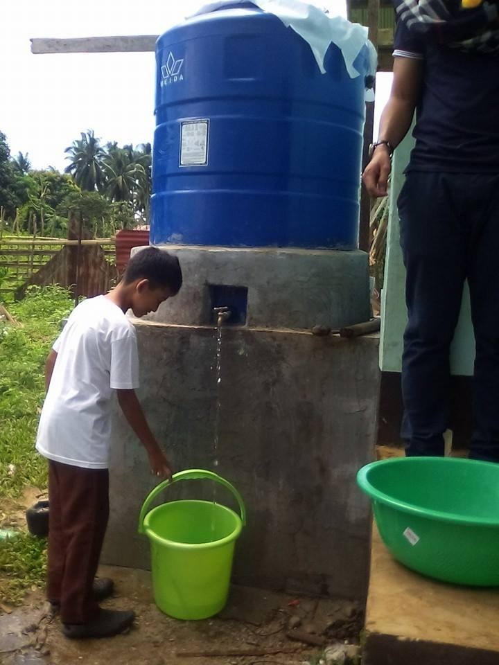 New water tank at Sahaya Elementary School