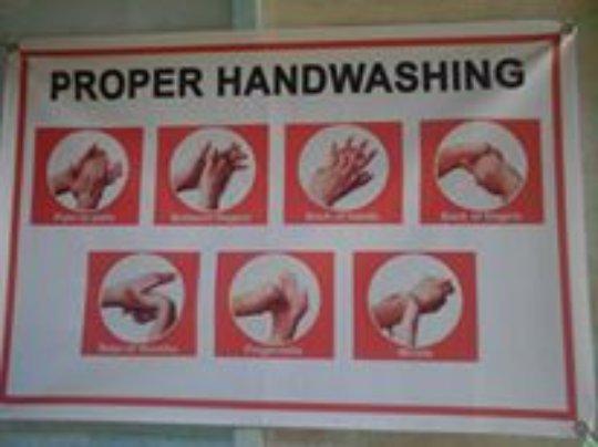 Handwash poster at Bunot Elementary