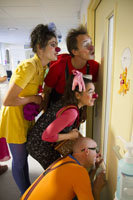Fund clown performance in children hospital rooms