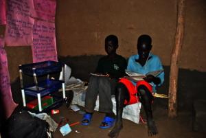 Julius left of Sebastian in their reading hut .JPG