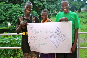 Sponsored students Kevin, Gloria, Peace 2015