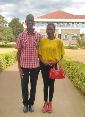 Director Joseph Mwengea and Winnie at her college