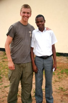 Salim with his Kenya Keys sponsor