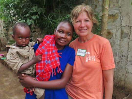 Sponsor Susan Goodwin with Flora and her son