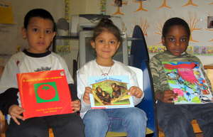 Students with their Books