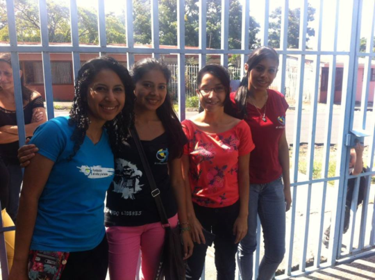 Tatiana (far right) and other local volunteers.